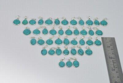 Wholesale 41Pc 925 Solid Sterling Silver Blue Turquoise Pendant Lot Gtc166 c465