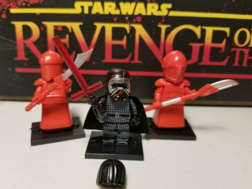 KYLO REN supreme lot 3 minifigures royal Praetorian w//stands Star Wars Skywalker