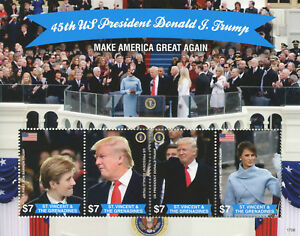 St-Vincent-amp-Grenadines-2017-MNH-Donald-Trump-45th-US-President-4v-M-S-I-Stamps