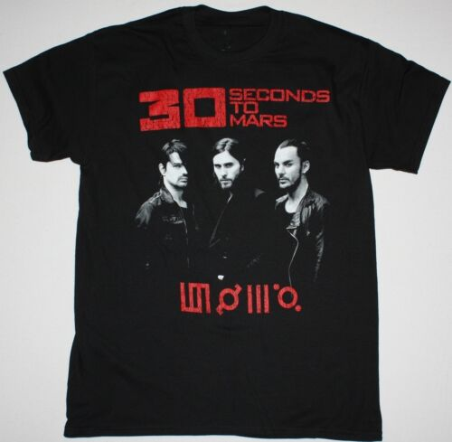 THIRTY SECONDS TO MARS WORLD TOUR 2014 BLACK T-SHIRT 30 SECONDS JARED LETO