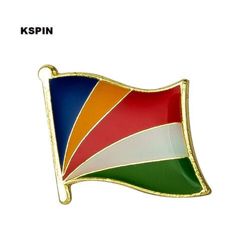 Seychelles Flag Lapel Pin 19 x 16mm Hat Tie Tack Badge Pin Free Shipping