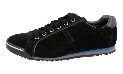 ffb9e074dafef 4e2719 New 43 Prada Schuhe Neu 5 9 43 Schwarz Wildleder Luxus Sneaker  3LSRqcj45A