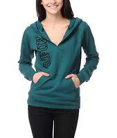 Women's/jrs Fox On Equivalent Teal Pullover Hoodie Fleece $58