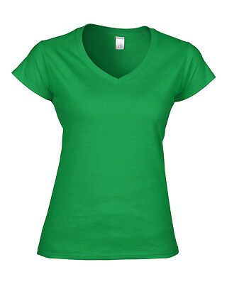 Gildan Softstyle Ladies V–Neck T–Shirt - Womens tops - Sizes S M L XL 2XL