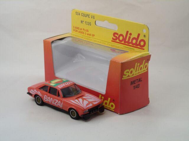 Solido 1335 Peugeot 504 Coupe V6 Banzai Neuf avec boîte (#A15)