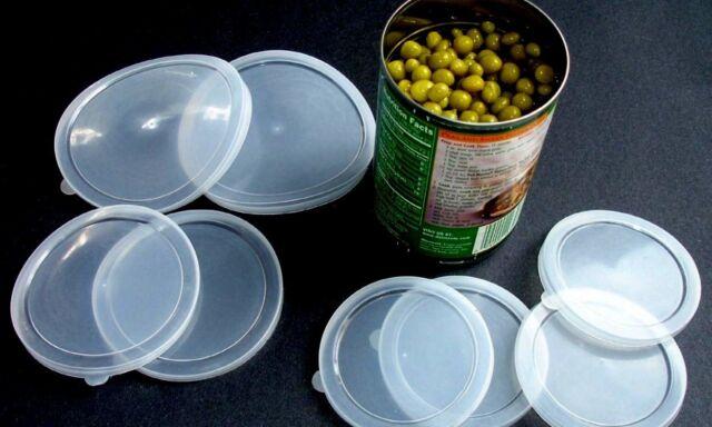 Can Covers Set of 6 Plastic Tops Pet Food Assorted Size Lids Al-De-Chef
