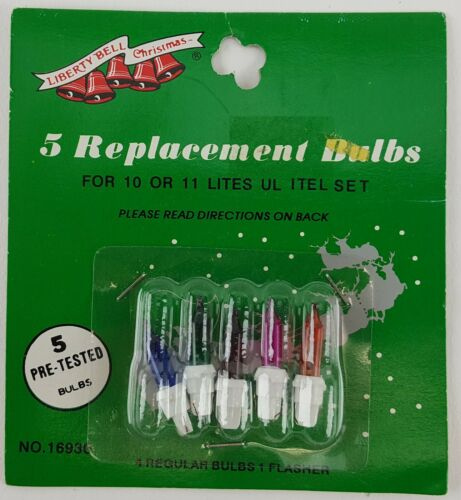 10 PIECE LOT REPLACEMENT CHRISTMAS STRING LIGHT BULBS MULTI COLOR WHITE BASE