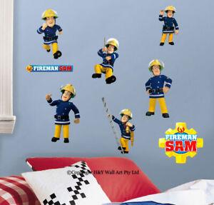 Fireman-Sam-Kids-Wall-Art-Sticker-Nursery-Decor-Removable-Decal-Boys-Mural-Gift