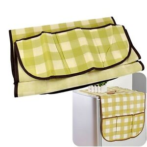 Home-Fridge-Refrigerator-Lattice-Dust-Proof-Cover-Muti-use-Pouch-Bag-Organizer