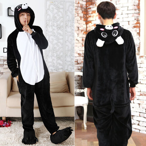 Kids Adults Animal Kigurumi Pajamas Cosplay Ones*e Sleepwear /& Slippers Shoes