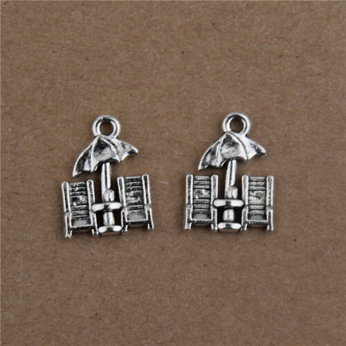 Tibetan silver Vintage Alloy Beach Chair Pendants Charms Crafts Findings 20mm