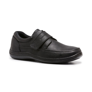Mens-Woodlands-Sigmund-Black-Adjustable-Straps-Comfortable-Work-Casual-Shoes