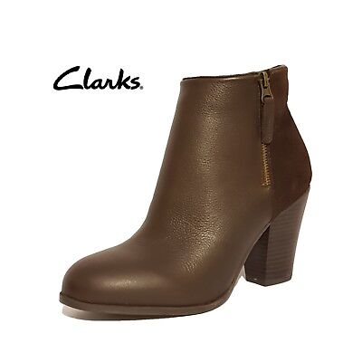 Clarks Gabriel Mix Botas de Piel para Mujer marrón marrón