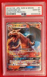 Psa Gem 10 Pokemon Card Sun Moon Detective Pikachu Charizard Gx