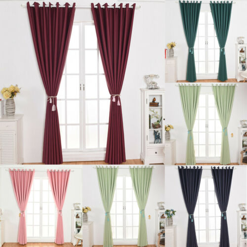 Window Curtains Blackout Window Drapes Shading Thermal Insulated Living Room