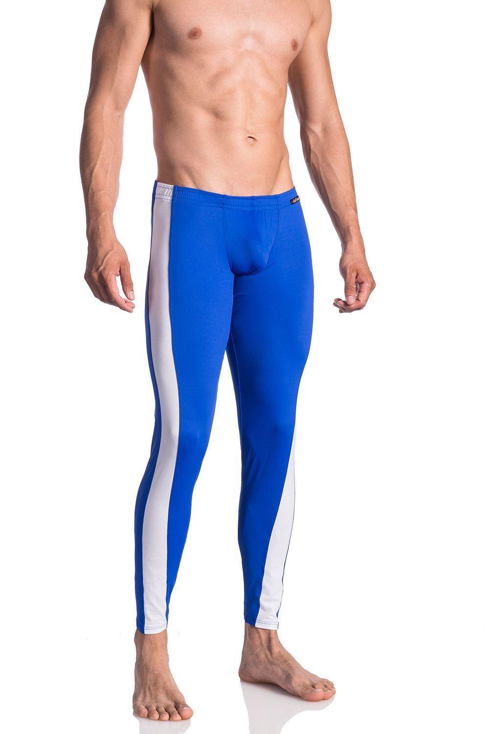 Olaf Benz Men's blue 1659 Freestyle Swim Pants Long Leg Colourful Swimming