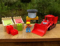 BOB the BUILDER Lego DUPLO 3294 ~ MUCK'S RECYCLING SET Bob Figure HARD TO FIND!