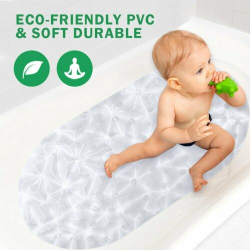 Non-Slip PVC Bathtub Mats Anti-Bacterial Shower Mat Diamond Design for Bathroom