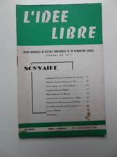 revue L'Idée Libre n° 7 1964 Libre Pensée Pline Syndicalisme Calendrier Miracle