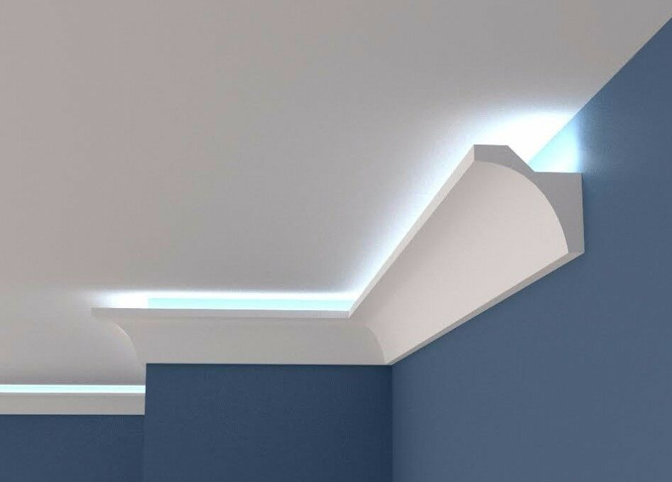 Polystyrene COVING for LED Lighting Plain cornice BFS12 Größe 100mm x 100mm XPS