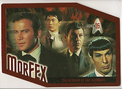 STAR TREK 35TH ANNIVERSARY MORFEX SINGLE CARDS M1-M9
