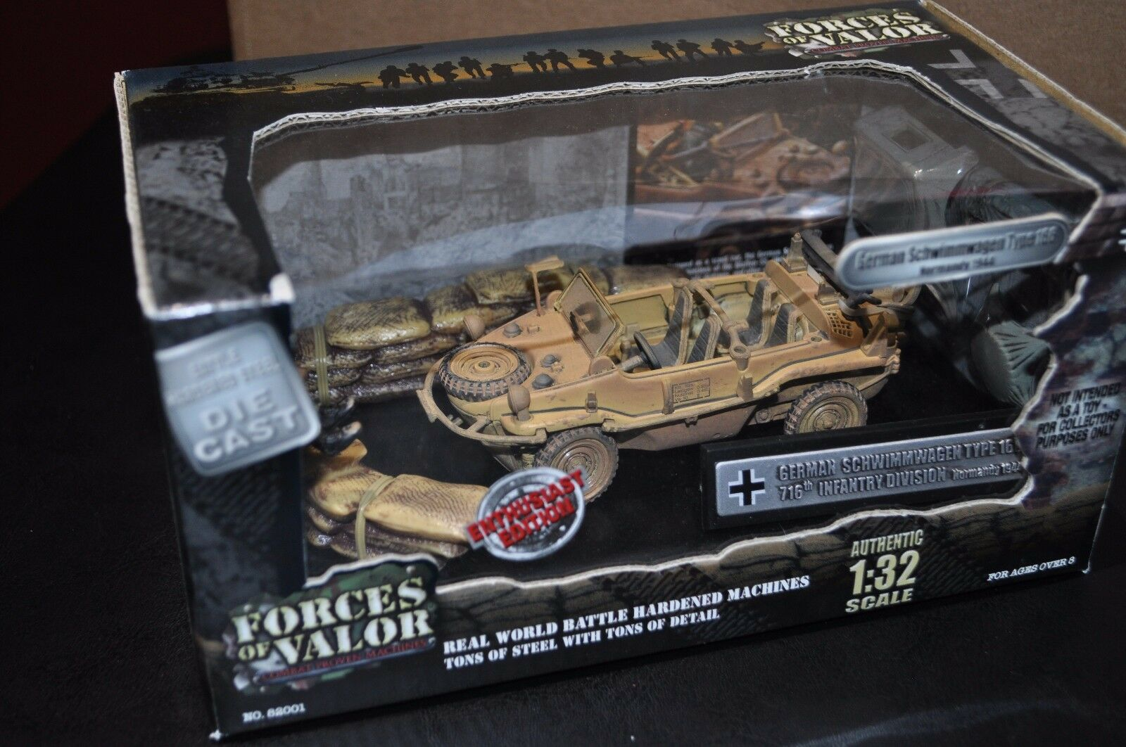 New Forces of valor 1 32 Rare German Schwimmwagen Type 166 Normandy WWII Diorama