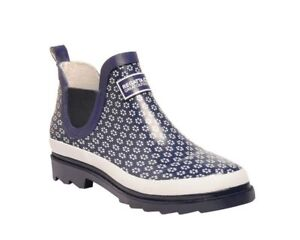 Regatta ladies Harper short ankle low cut rubber welly wellington Navy//vivacious
