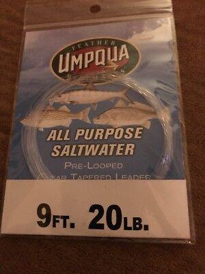Umpqua Fly Fishing Pre Looped Clear Tapered Striper Leader 8 Feet 20lb