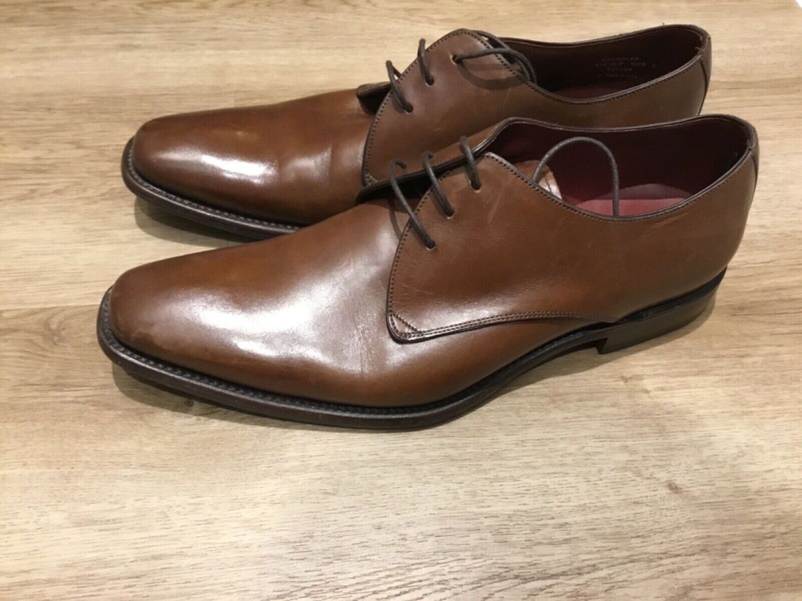 mens LOAKE Bressler Shoes in Brown UK 9 F fitting RRP new in Loake box