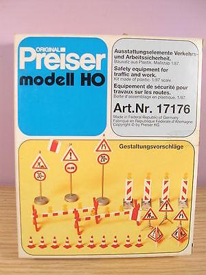PREISER 17178 set blocchi per deviazione stradale cantiere 1//87