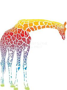 ART-PRINT-POSTER-PAINTING-DRAWING-FADED-MULTICOLOURED-GIRAFFE-GRAPHIC-LFMP1027
