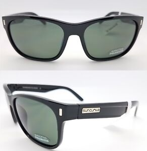 afdfbf0d4fc Image is loading NEW-Suncloud-sunglasses-Dashboard-Black-w-Grey-Polarized-