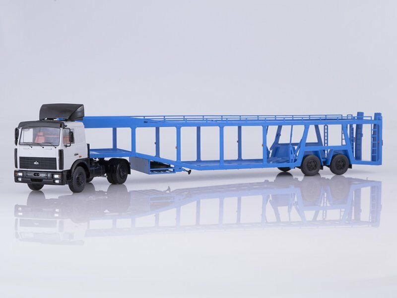 1 43 MAZ-5432 with semi-trailer for auto transporter 934410 (А908) 1981 SSM7052