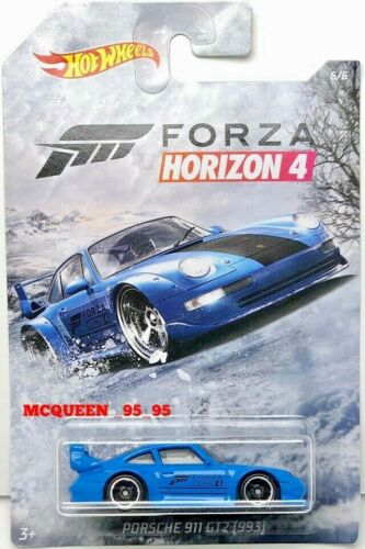 2019 HOT WHEELS FORZA HORIZON 4 PORSCHE 911 GT2 993 #6//6 BLUE