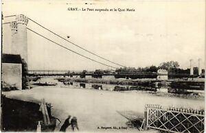 CPA-Gray-Le-Pont-Suspendu-et-le-Quai-Mavia-636616
