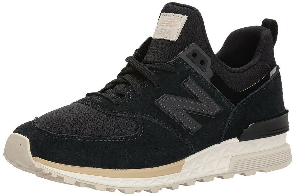 New Balance 574 Men's Shoes Sneakers Black Suede MS574FSK