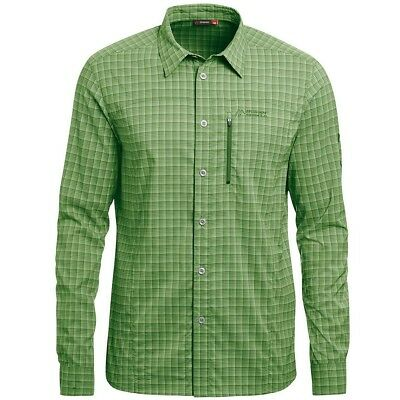 Qualificato Maier Sports Madoc L/s Camicia A Quadri Verde-mostra Il Titolo Originale Firm In Structure