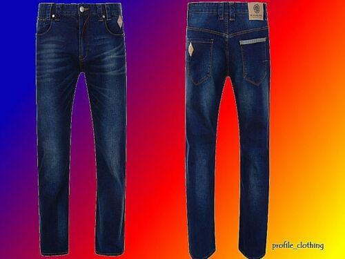 NUOVA linea uomo Kam Big & Tall Regular Fit Stretch elastico jeans estensibile Diego