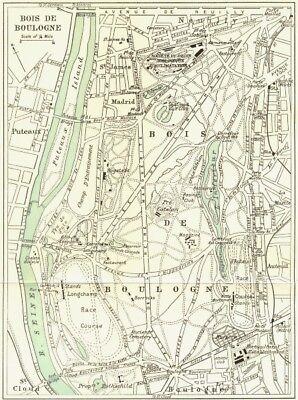 Bois De Boulogne 1965 Old Vintage Map Plan Chart France Maps, Atlases & Globes