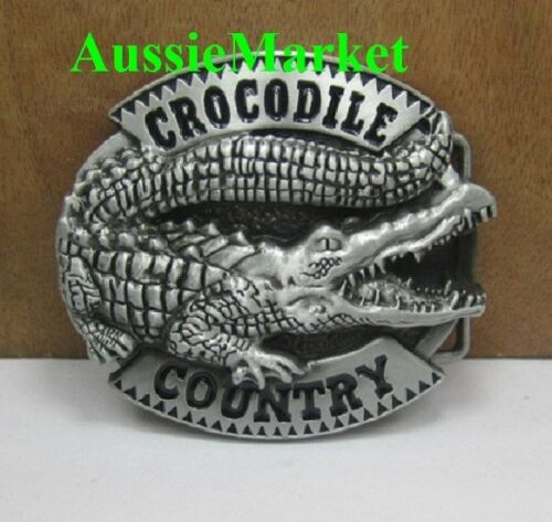 1 x mens ladies belt buckle metal alloy crocodile country jeans christmas gift