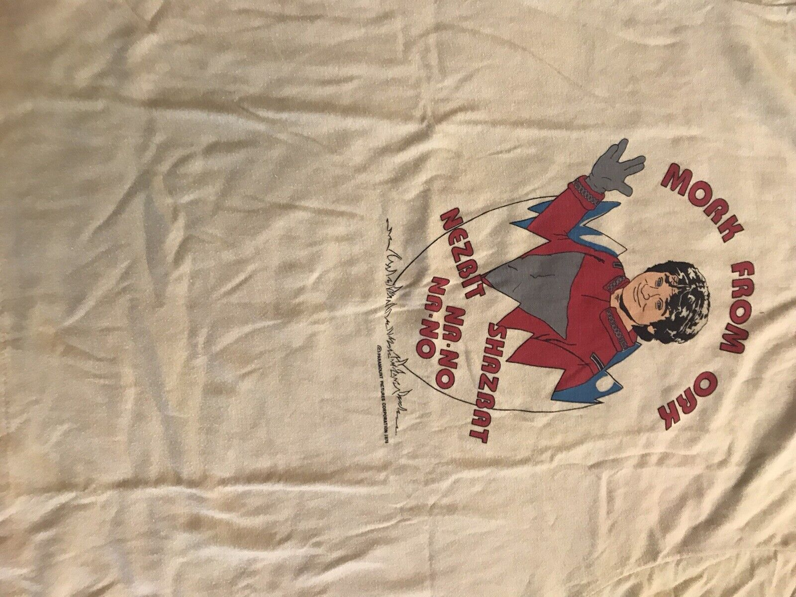 1978 Dated Robin Williams Mork Mindy Vintage Shir… - image 7