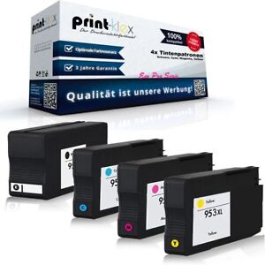 4x Patronen für HP 953 XXL OfficeJet Pro 8216 8710 8715 8718 8720 8725 8730 8740