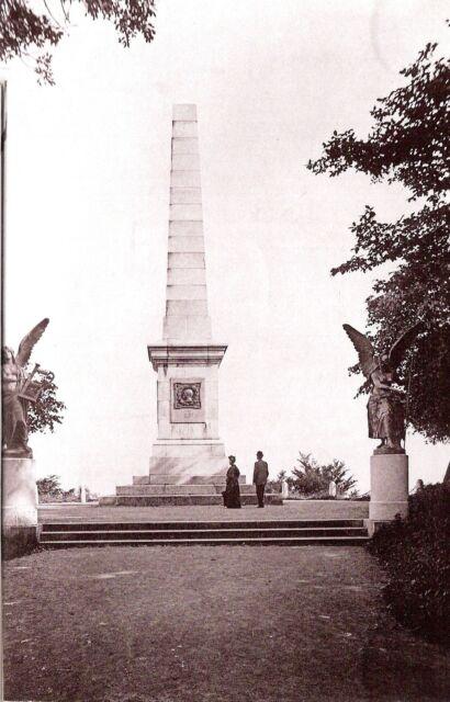 Vintage photo Harzburg / Canossasäule auf dem Burgberg - 1893