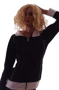 Womens-Black-White-Light-Coat-Spring-Jacket-Jog-Run-S-M-XL-Plus-Size-1X-2X-NEW