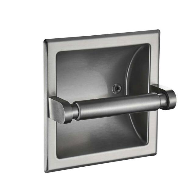 Recessed Toilet Paper Holder Chrome Finish Stainless Steel Ss 818840 For Sale Online Ebay