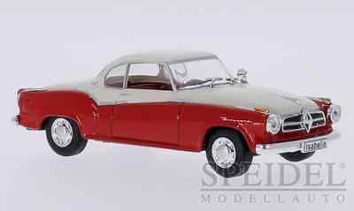 wonderful modelcar BORGWARD ISABELLA COUPE 1957 - red/white  - scale 1/43
