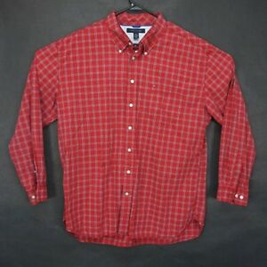 6c3be047 Tommy Hilfiger mens 2xl red blue picnic basket pattern long sleeve ...