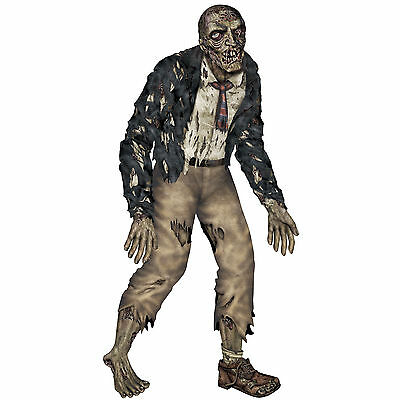 6' Halloween Jointed Gory Zombie Prop Creepy Decoration Hanging Wall Decor NEW