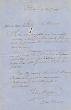Art Isidore Bonheur lettre autographe signée 1865