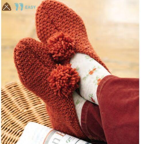 V15 Knitting Pattern Femmes Pantoufles-Multi taille